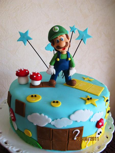 Luigi tårta Super Mario