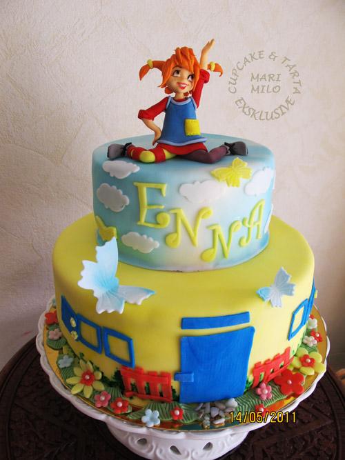 Pippi Långstrump tårta