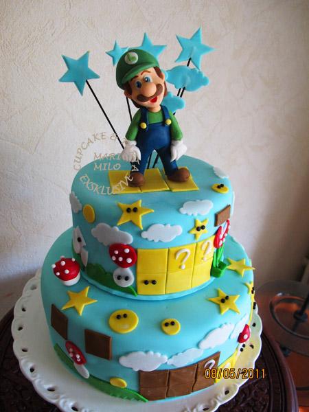 Super Mario Louigi tårta