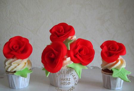 Bröllopscupcakes och mini cupcakes