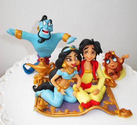 Princess Jasmine och Aladdin tårta