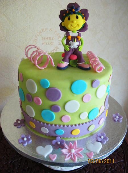 Viola, socker figur och tårta