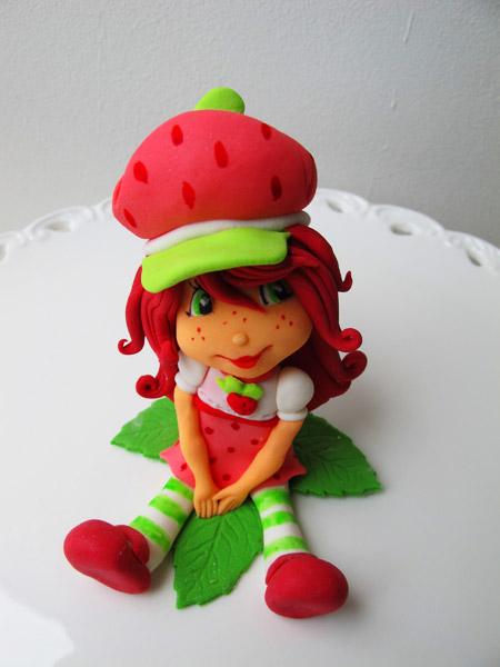 Jordgubbslisa sockerfigur