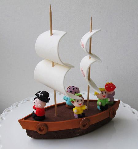 Pirater till sjörovarkalas tårta