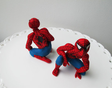 Spiderman sockerdekoration