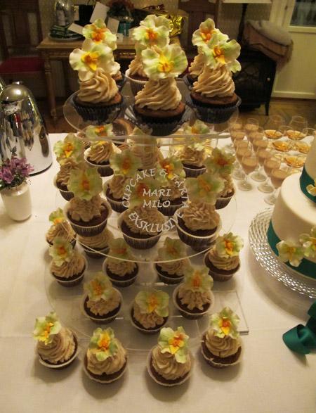 Vegan bröllopscupcakes
