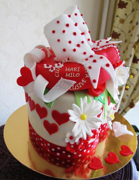 1årig bröllopsdag tårta
