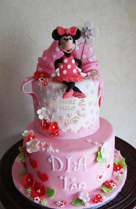 Barn födelsedagstårta Minnie Mouse