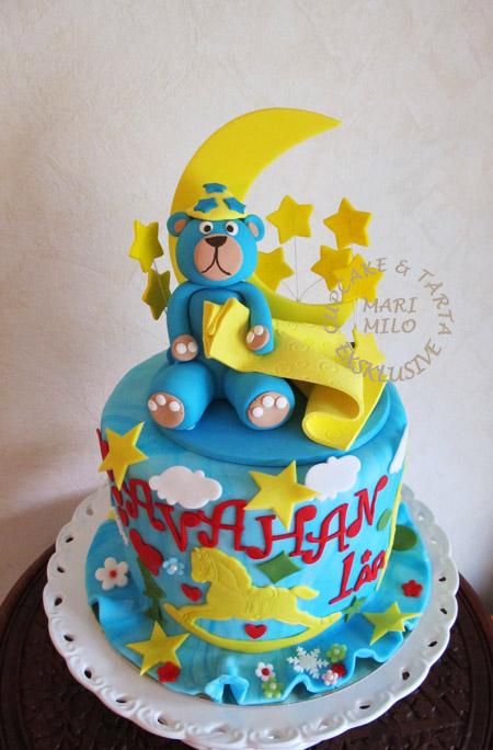Barntårta för pojkar med nalle
