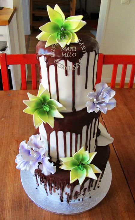 Choklad bröllopstårta