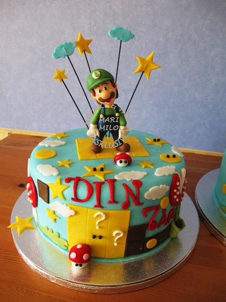 Kalas tårta Super Mario Luigi