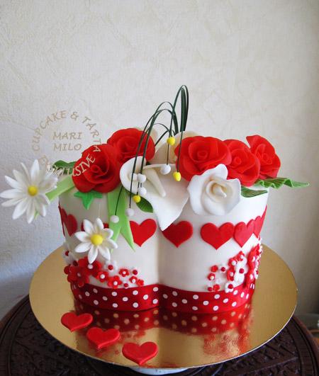 Kärleks present tårta
