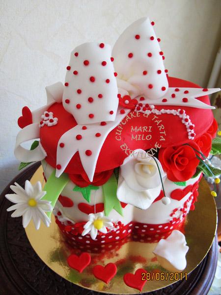 Present tårta Alla hjärtans dag