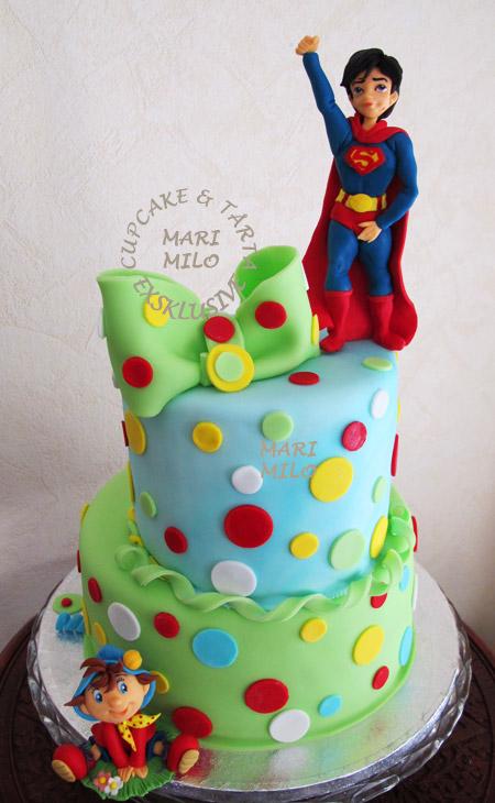 Superman tårta
