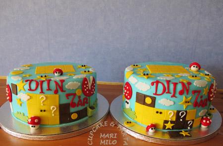 Tårtor dekorerade med sockerpasta