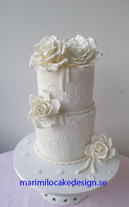 Bröllopstårta vit