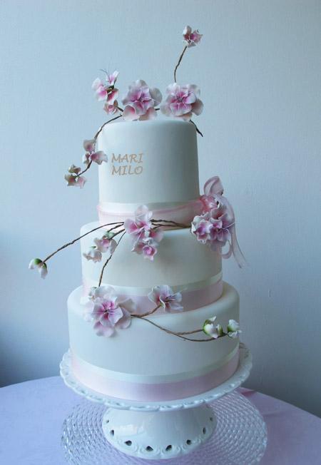 Japanese Cherry Blossom - Bröllopstårta