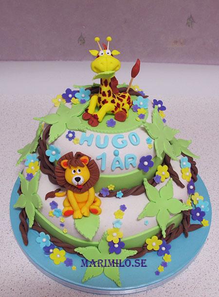 Lejon Giraff Tårta