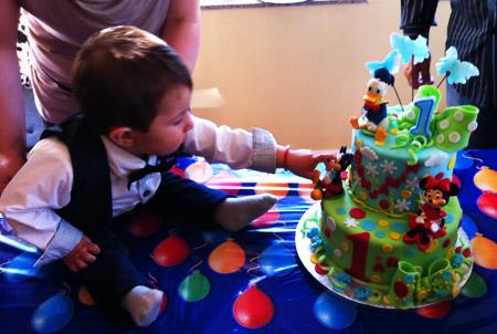 1 års födelsedagstårta och Benjamin