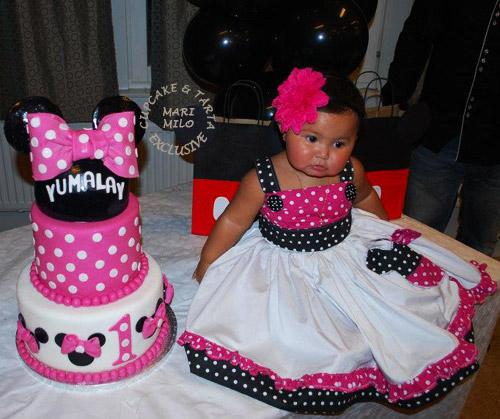 1 års kalastårta, Yumalay och Minnie