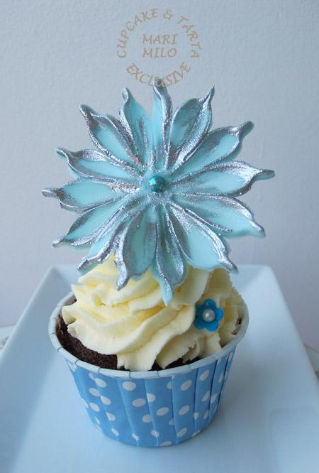 Cupcake Blå Silver