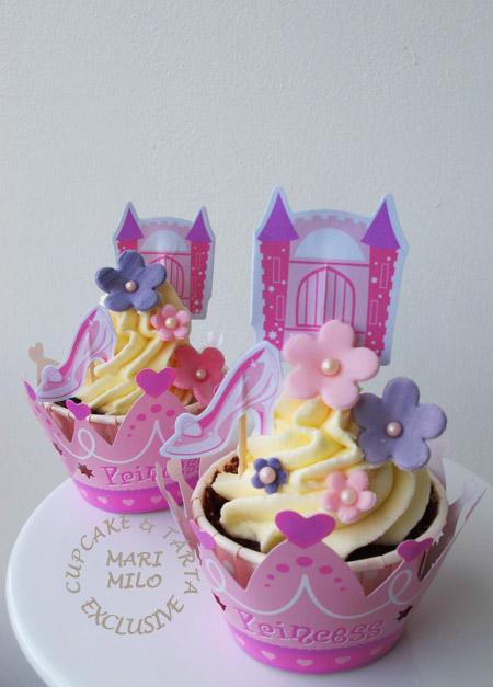 Prinsesslott och cupcakes till prinsesskalas