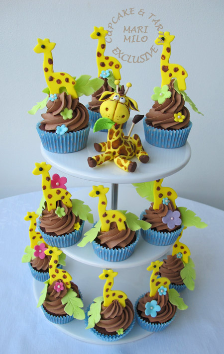 Jungle Zoo Animals Cupcakes