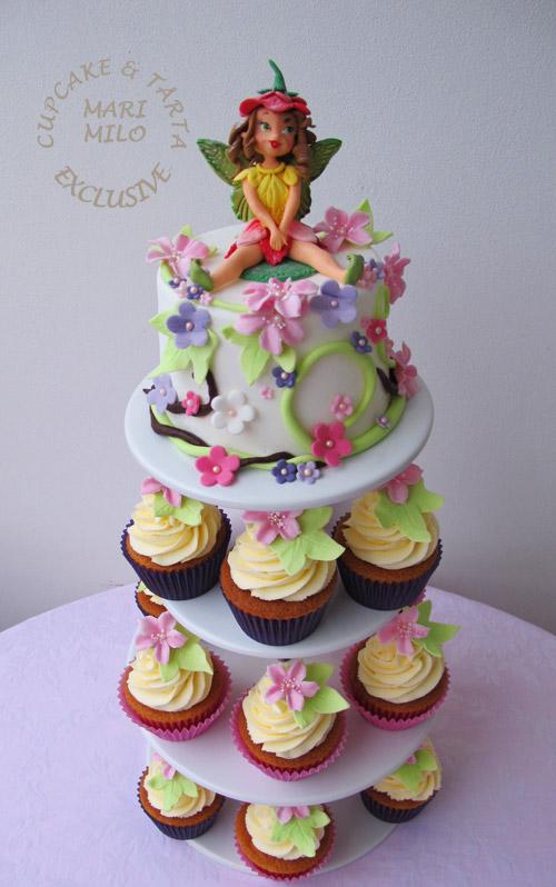 Tårta och cupcakes med älva