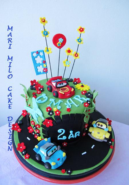 Bilar tårta