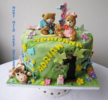Tvillingar tårta 1år