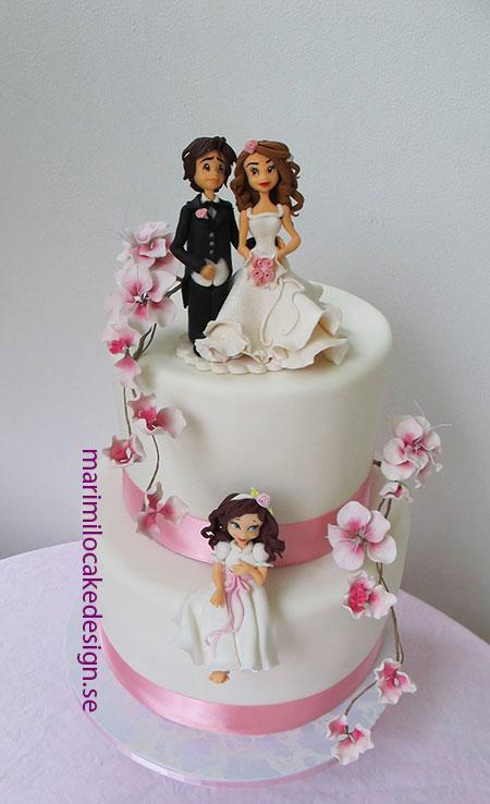 Bröllopstårta tårtdekorationer