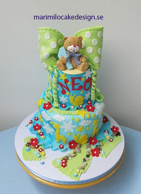 Födelsedagstårta, 24 bitar med dekorerad tårtbricka