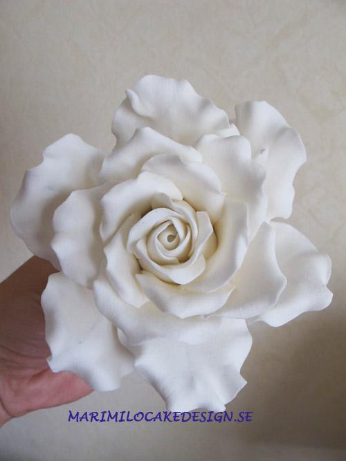 Bröllopstårta sockerdekoration, kurs, rosor
