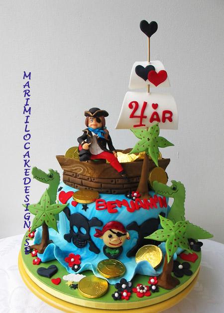 Födelsedagstårta, pirattårta