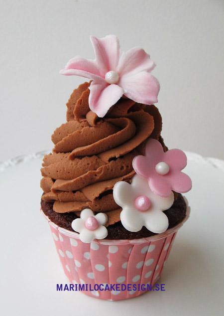 Cupcake choklad, rosa