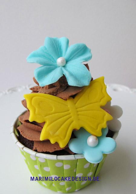 Cupcake, fjärilar