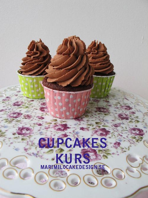 Cupcakes kurs, spritsteknik