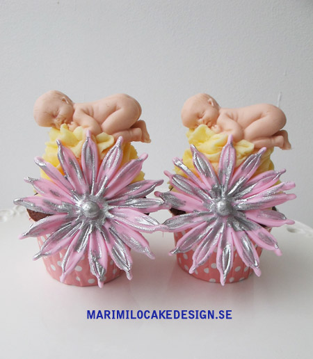 Dop cupcakes bebisar