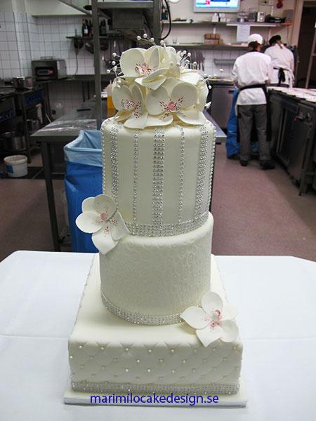 Bröllopstårta kristaller