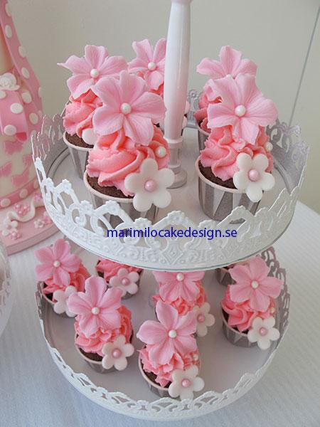 Rosa mini cupcakes