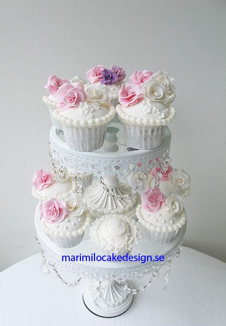 Vintage cupcakes bröllop