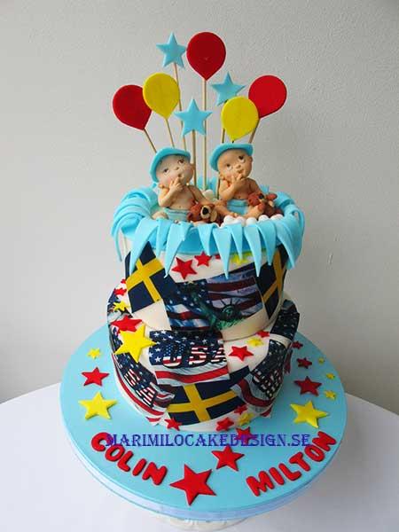 Tårta till tvillingar