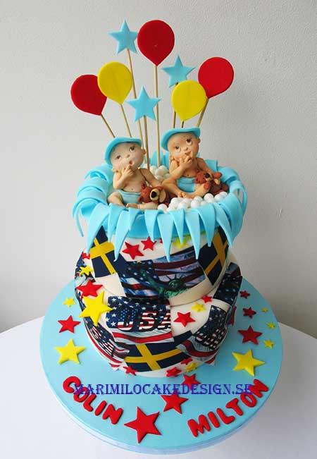 Tårta till tvillingar, pojkar