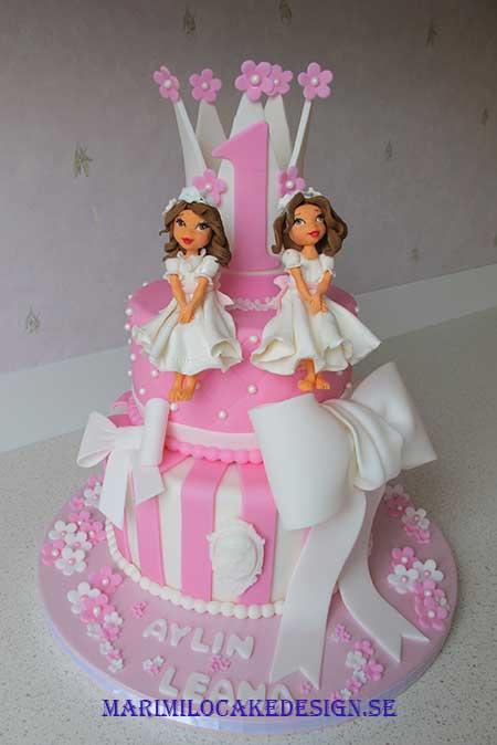 Tvillingar, tårta-1 års tårta