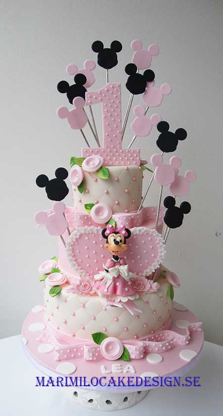 Minnie Mouse tårta 1 år