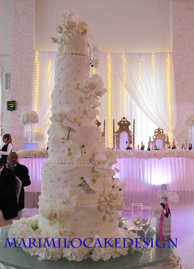 Bröllopstårta Stocvkholm Vit