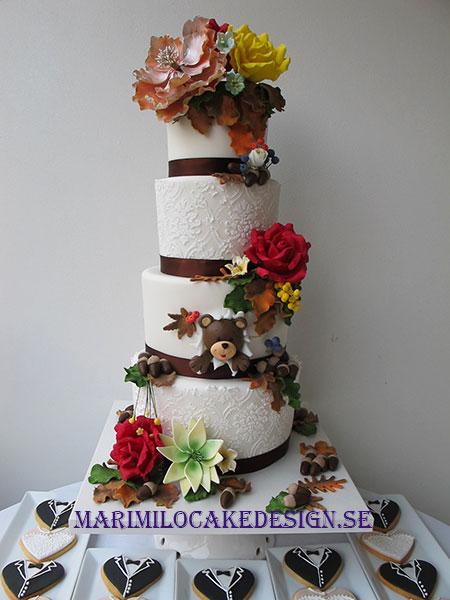 Höst bröllopstårta
