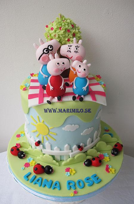 Peppa Pig Tårta