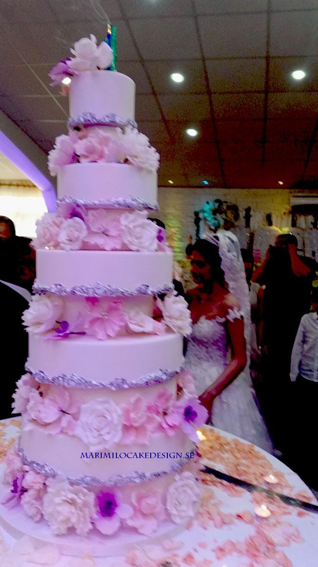 Stor Bröllopstårta Sockerpasta