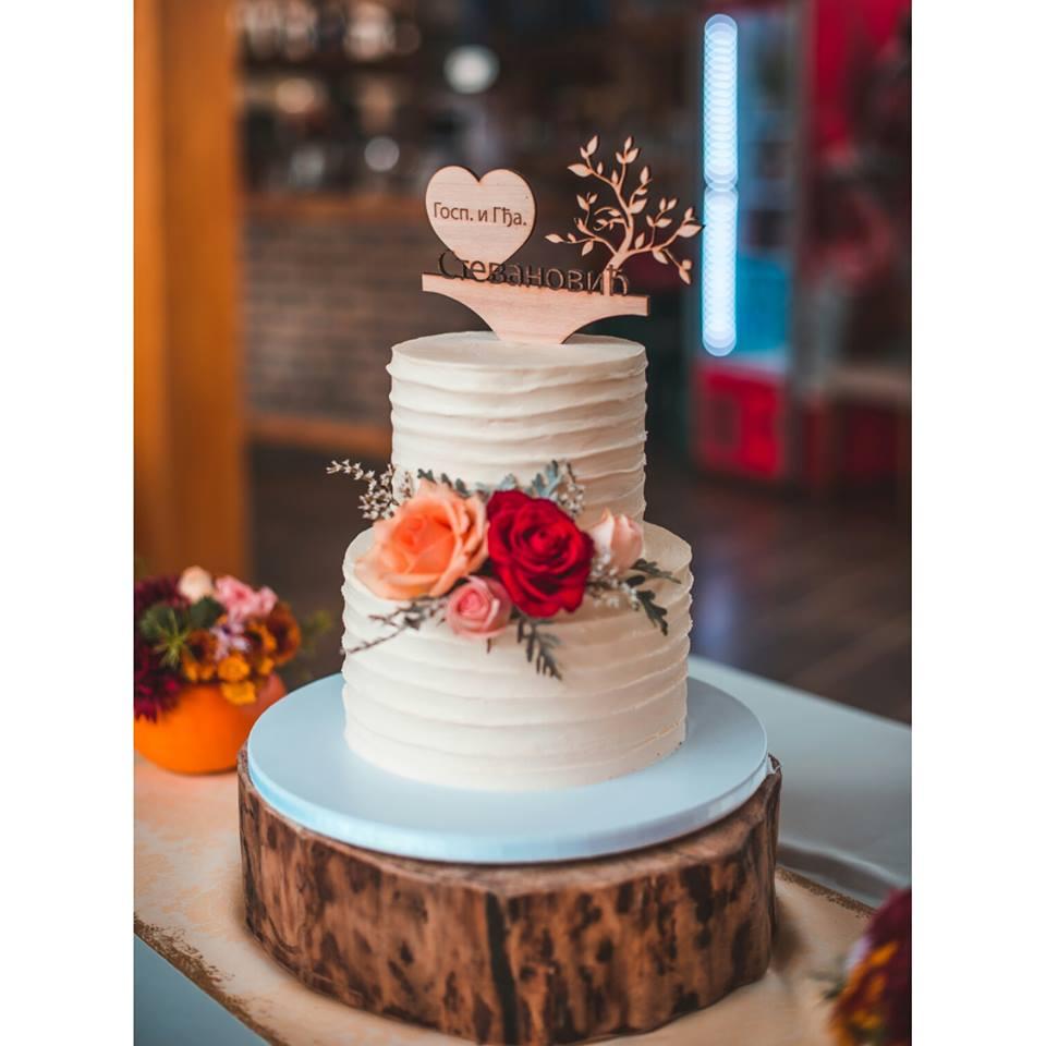 Naked Cake Bröllopstårta
